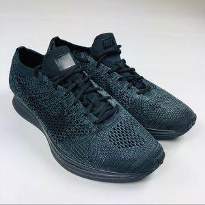 6d7383a5ea192 Nike Flyknit Racer Running Shoes Triple Black 8